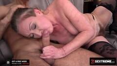 Naughty Elizabeth Bee Really Wants Her Macho Neighbor's Cock Thumb