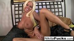 Two massive cocks for ebony beauty Kira Noir Thumb