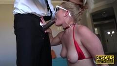 Kinky Lisey Sweet gobbles down black cock Thumb