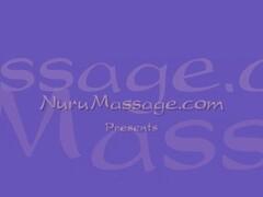 Amazing lesbo Nuru body massage! Thumb
