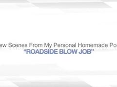 ROADSIDE BLOW JOB – OUTDOOR BJ CUM PUBLIC ORAL Thumb