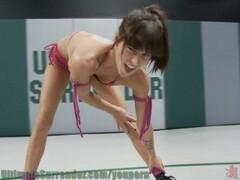 All Girl wrestling action Thumb
