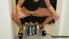 Naughty Peeing Housewife Peeing Compilation Thumb