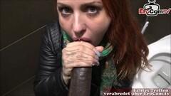 Hot german bitch public blowjob at toilet pov Thumb