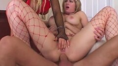 Blonde MILF Natasha Starr flirts and fucks with stepson Thumb