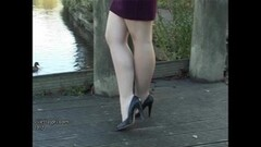 Sweet Leggy babe makes shoe fetish rise high heel juices flow Thumb
