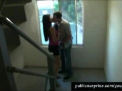 Getting A Blowjob In A Blowjob Stairway Thumb