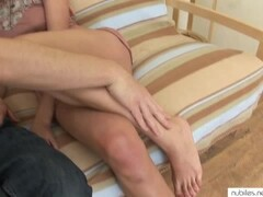 Blonde Exibitionist girl getting naked Thumb