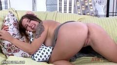 Anna De Ville has her sweet muff crammed balls deep Thumb
