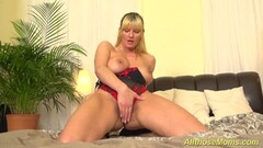 Extreme hairy blonde mom alone at home Thumb
