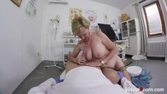 Busty granny gets pov fucked by doctor Thumb