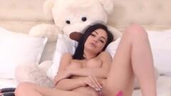 Sensual brunette masturbating Thumb