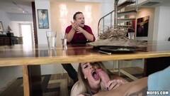 Blonde babe Tiffany Watson getting caught sucking cock again Thumb