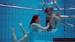 Naughty hairy and tattoed teens in the pool Thumb