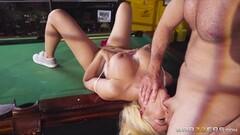 Blonde Luna Star dilled balls deep in her tight minge Thumb