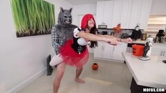 Little red reverse riding hood Kharlie Stone hammered deep in her box Thumb
