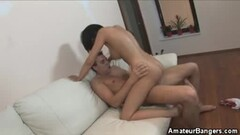 Cougar cumswaps in hardcore bisexual threesome Thumb