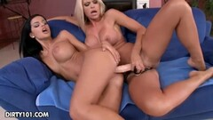 Stepmom squeezes balls while licking cock Thumb