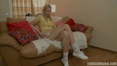 Tight College Blonde With Puffy Nipples Strips Thumb