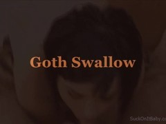 Goth Girl Swallows Cum Thumb