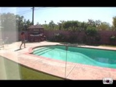 Devin Reese gets caught in neighbors pool Thumb