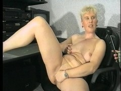 Blonde wears herself out by making herself cum (CLIP) Thumb