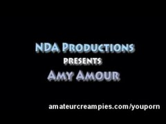 Amy Amour Amateur Creampie Pussy Filled Thumb