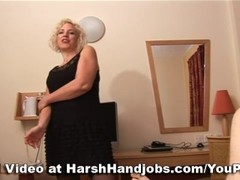 Sarah Hall gives a harsh handjob Thumb