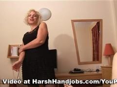 Sarah Hall gives a harsh handjob Thumb