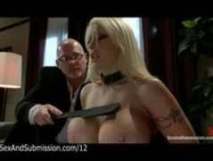 Huge boobs blonde spank and blowjob by husband Thumb