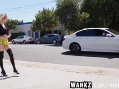 Strapped babe gets electro shocks in dungeon Thumb