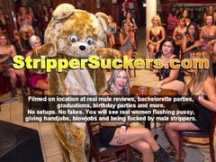 Shameless Women Sucking & Fucking Stripper Cocks At CFNM Club Thumb