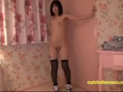 Petite Jav Teen Teases With Vibrator In Her Pussy Rope Spreads Her Labia Thumb