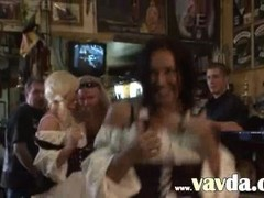 Busty blonde bitch penetrated in a pub Thumb