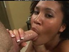 Busty Ebony Babe  Sucks And Swallows black ebony cumshots ebony swallow interracial Thumb