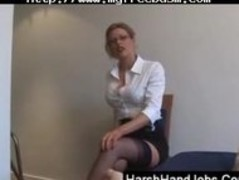 Blonde Secretary Gives A Painfull Handjob bdsm bondage slave femdom domination Thumb