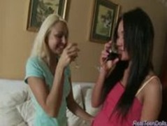 Real teen dolls licking pussy and inserting dildo deep Thumb