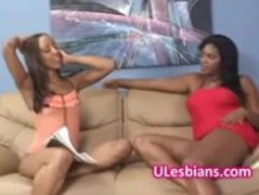 Black diva eats lesbian sisters wet shaved pussy Thumb