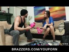HOT Busty brunette Kortney Kane shows off her lingerie Thumb
