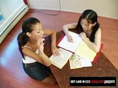 Lesbian Schoolgirls Take Sexy Study Break Thumb