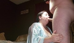Sexy BBW Sloppy Blowjob Into a Cum Covered Face Thumb