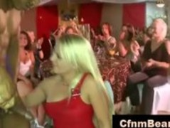 Black CFNM stripper sucked by blonde at CFNM party Thumb