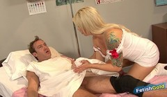 Big titted blonde nurse fucked by older patient with big cock Thumb