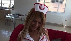 latina nurse takes care of the doctor Thumb