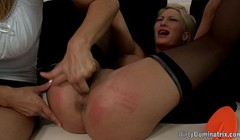 Spanked milf gets fingered and dominated by lezdom babe Thumb