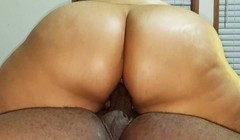 Latina riding big black dick and taking it up her tight ass. Thumb