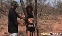 Submissive African slut gets dominated by two studs Thumb