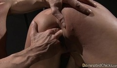 Bdsm babe in chains getting rammed by cock Thumb