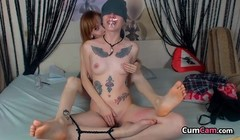 Tattooed Sister Blindfolded Gets All Wet Thumb