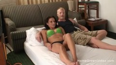 Horny amateur couple film their first homemade video Thumb